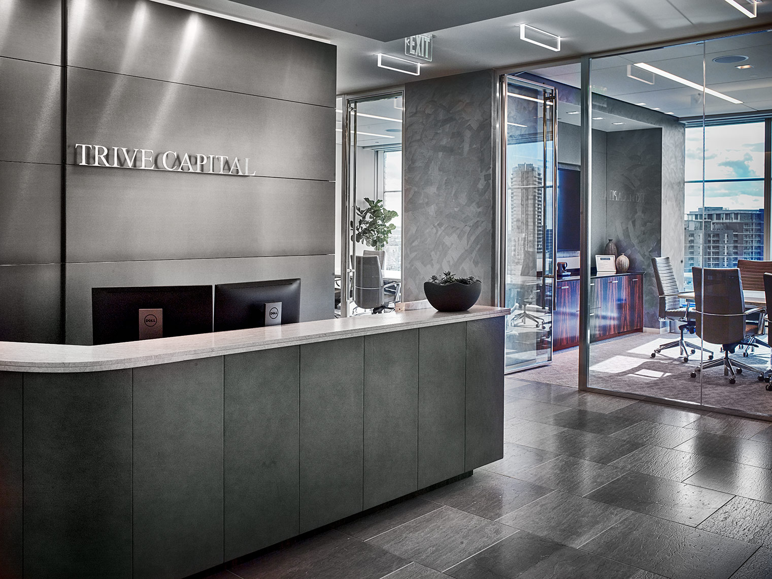 corporate lobby |  interior design in offices