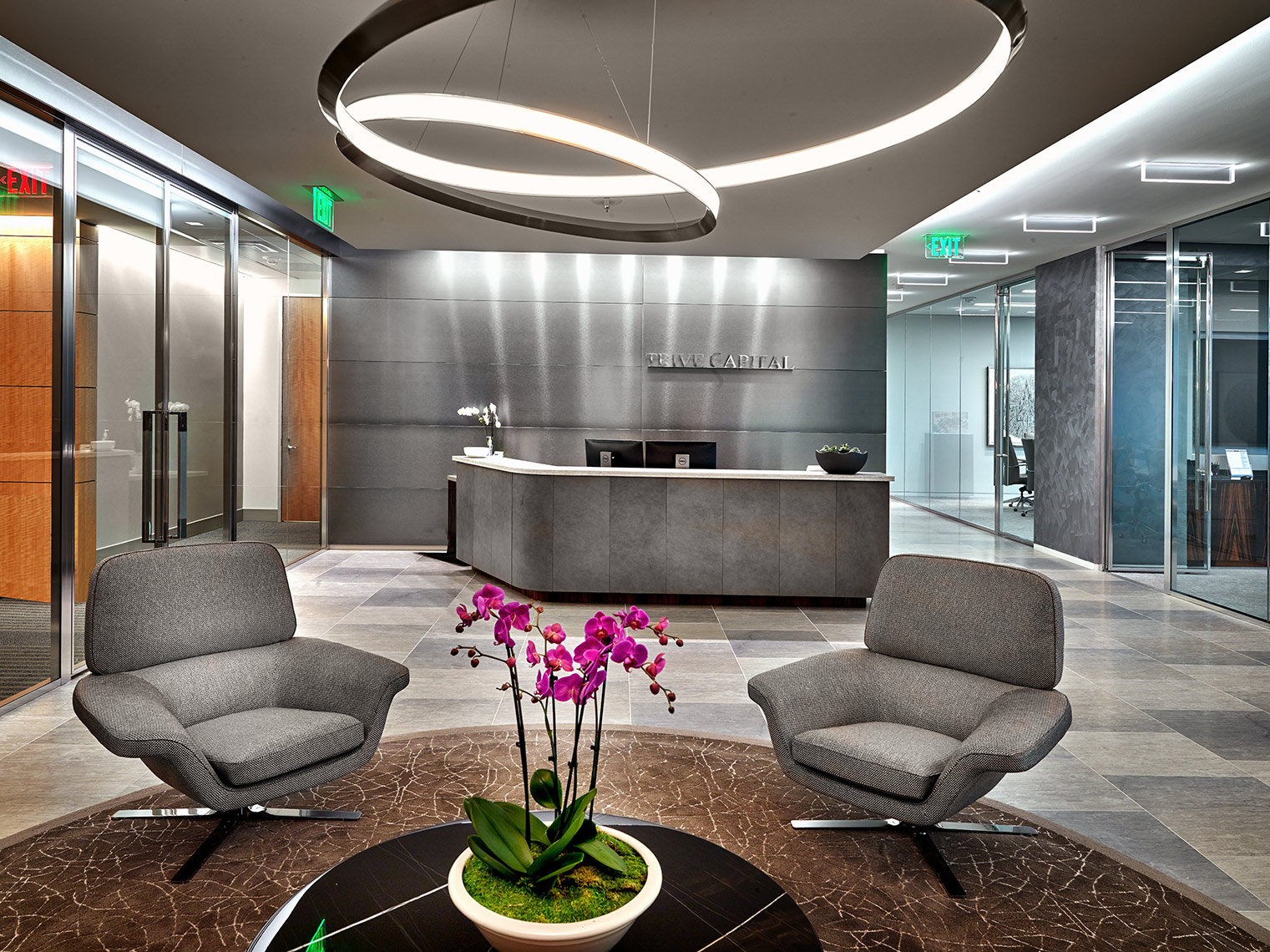 lighting and fixtures in high end offices