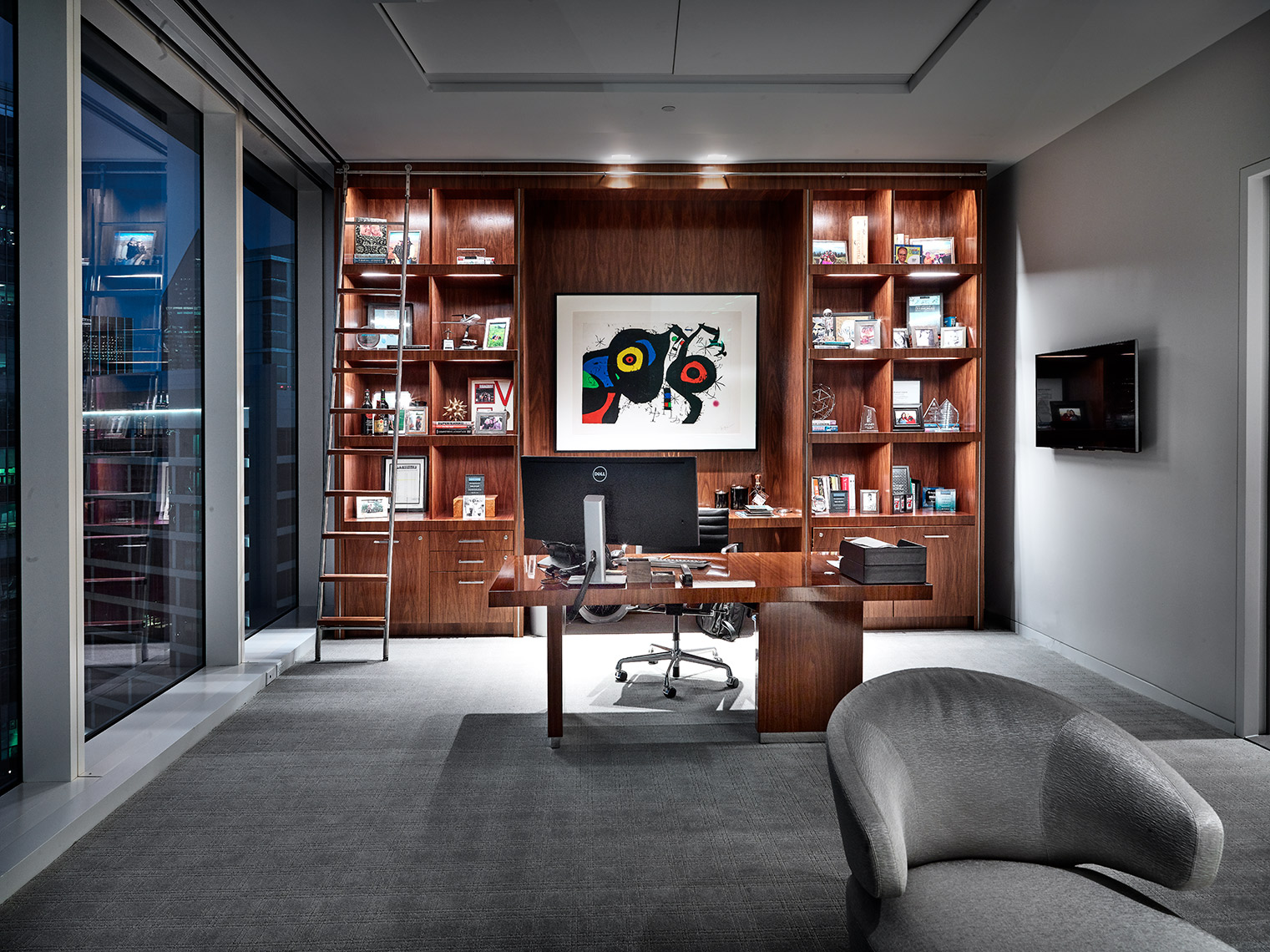 paintings and decor in corporate offices |  high end finishes and treatments
