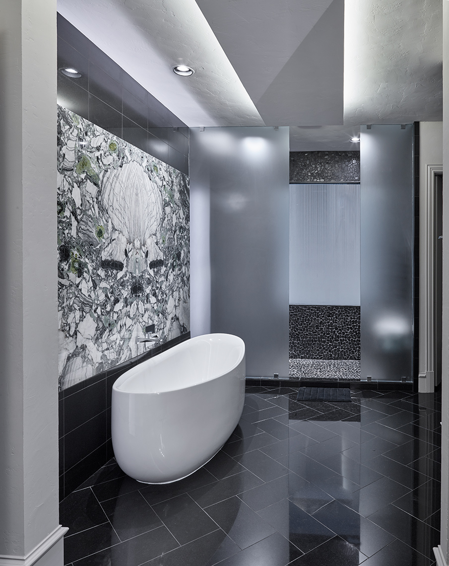 contemporary tub and shower combinations
