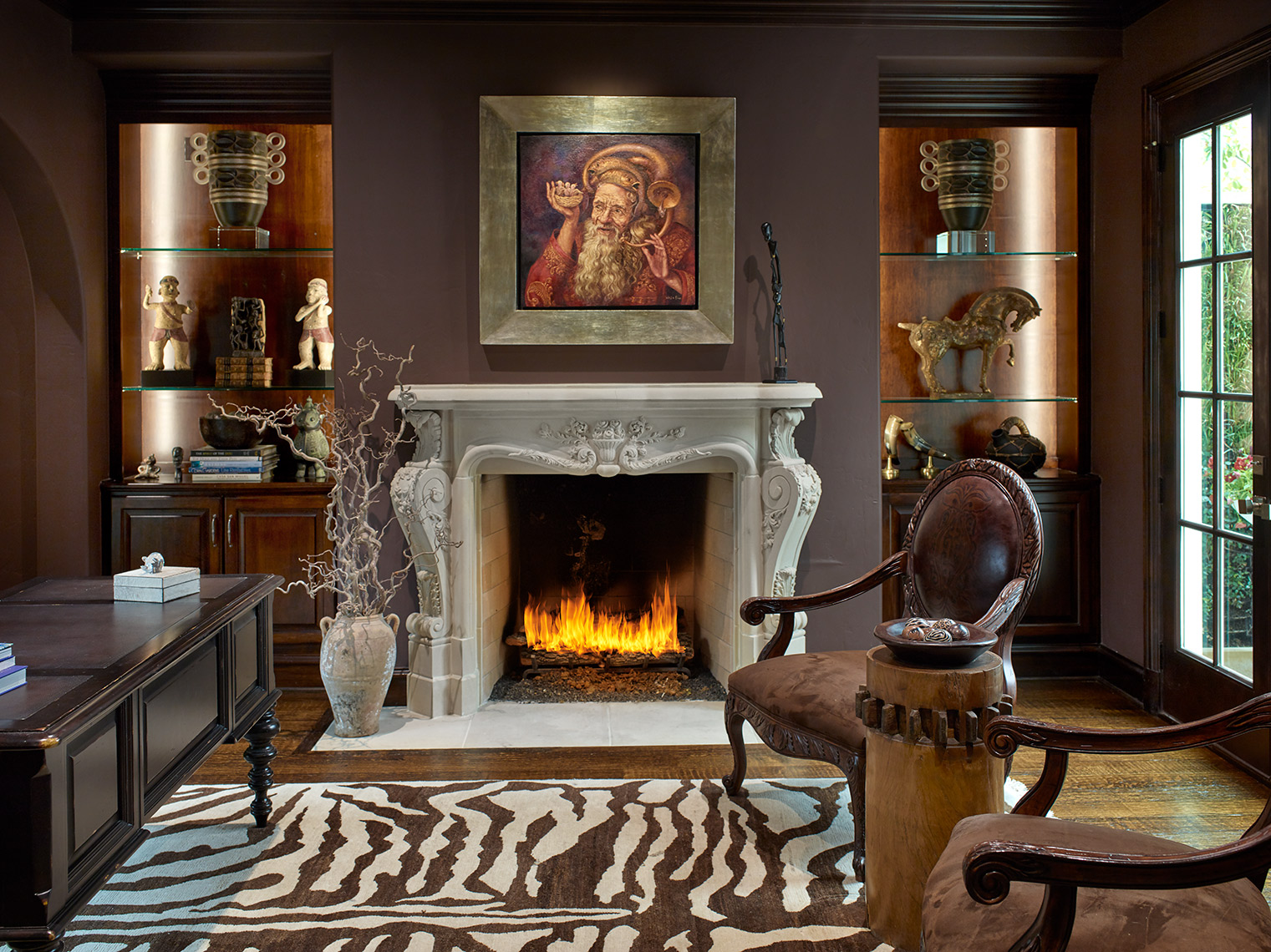 high end design in home studies | Joanie Wyll Interiors | award winning imagery