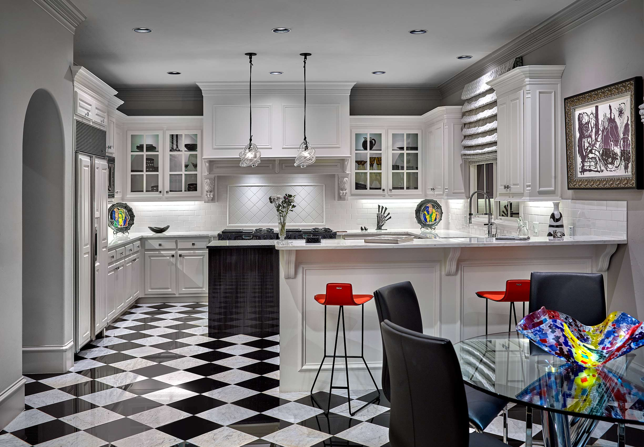 luxury modern kitchen design and flooring